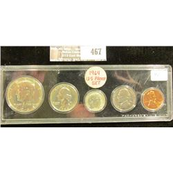 "1964 U.S. Proof Set in a special plastic case lettered ""Packaged by U.S. Mint""."
