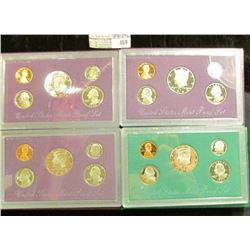 1991S, 92S, 93S, & 94S U.S. Proof Sets in original boxes as issued. CDN bid is $14.00.