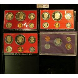 1977 S, 78 S, 79 S, & 90 S U.S. Proof Sets, original as issued. CDN bid is $20.00.