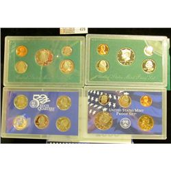 1997 S, 98 S, & 2000 S U.S. Proof Sets. Original as issued. CDN bid is $18.50.