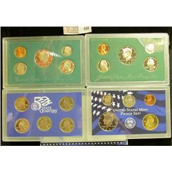 1997 S, 98 S, & 2001 S U.S. Proof Sets. Original as issued. CDN bid is $22.25.