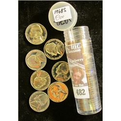 1968 S Solid-Date Roll of Proof Jefferson Nickels. (40 pcs.).