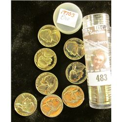 1970 S Solid-Date Roll of Proof Jefferson Nickels. (40 pcs.).