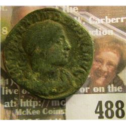 222-235 A.D. Severus Alexander, Sestertius. VF details. 27mm, bronze.