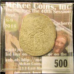 1583-1598 A.D. Shaybanid Abd Allah II, A2995, Silver Tanka. Near Half-dollar size.