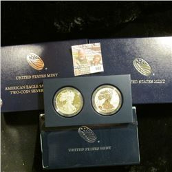 2012 American Eagle 2 Coin Set.  One Of The Coins Is A Proof Strike.  The Other Is A Reverse Proof.