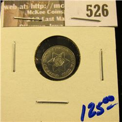 1852 Silver Three Cent Piece.  This Is Commonly Referred To As The Trime
