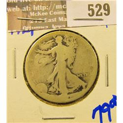 Lower Grade Key Date 1921 Walking Liberty Half Dollar