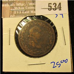 Lower Canada Half Penny Token Dated 1812