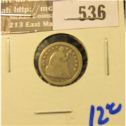 1847 Seated Half Dime