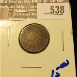 1865 Civil War Era Indian Head Cent