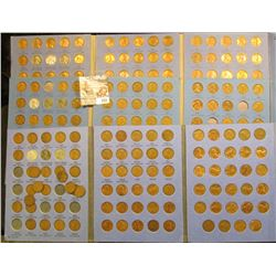 Three  Number 2 Lincoln Books With Coins.  There Are Just A Few Holes.  There Are Some Nice Red Ones
