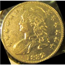 1832 Bust Half Dollar With All The Letters In Liberty Visible