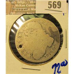 1814 Bust Half Dollar Holed