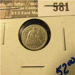 1851-O Seated Liberty Half Dime With All The Letters In Liberty Visible