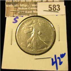 1921-S Walking Liberty Half Dollar