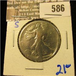 1919-S Walking Half Dollar