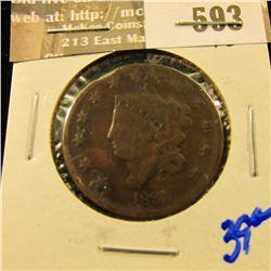 1831 Coronet Head Large Cent
