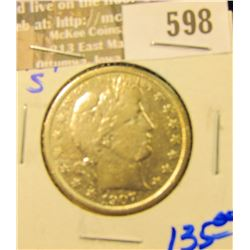 Key Date 1907-S Barber Half Dollar