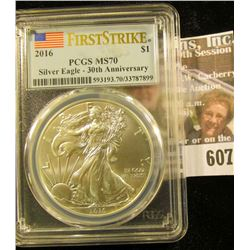 2016 American Silver Eagle Graded Ms 70 First Strike By Pcgs