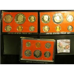 1978, 1979, And 1980 Proof Sets