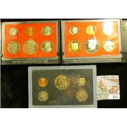 1981, 1982, And 1983 Proof Sets