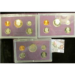 1984, 1985, And 1986 Proof Sets