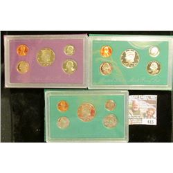1993, 1994, And 1995 Proof Sets