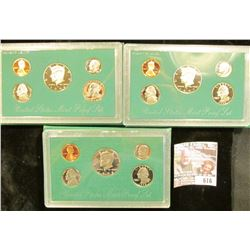 1996, 1997, And 1998 Proof Clad Sets In Original Government Packaging