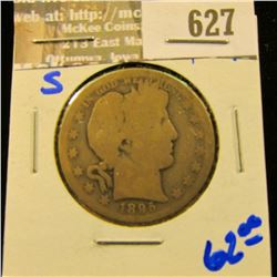 1895-S Barber Half Dollar From The San Francisco Mint