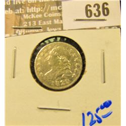1820 Bust Dime With All The Letters In Liberty Visible In The Headress