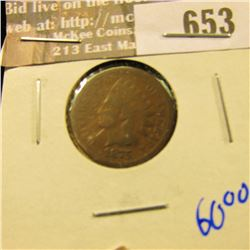 1875 Semi Key Date Indian Head Cent