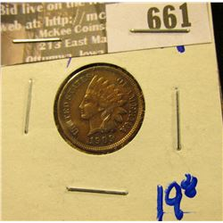 1909 Indian Head Cent With All The Letters In Liberty Visible