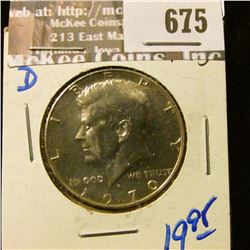 Key Date 1970-D Kenneedy Half Dollar.  This Books For Around $20