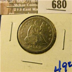 1853 Seated Quarter