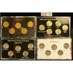 2008 Gold Edition, 2009 Commemorative Quarters Satin Finish, 2005n Platinum Edition State Quarters,