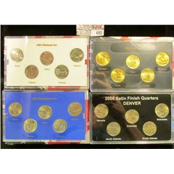 2003 PLATINUM EDEITION, 2004 GOLD EDITION, 2003 PHILADELPHIA EDITION, AND 2006 COMMEMORATIVE QUARTER