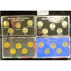 2007 SATIN FINISH QUARTERS, 2006 SATIN FINISH QUARTERS, 2005 GOLDE EDITION STATE QUARTERS, AND 2006