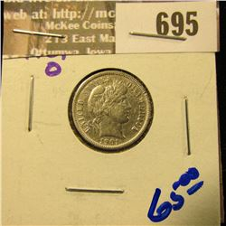 1901-O BARBER DIME WITH ALL THE LETTERS IN LIBERTY VISIBLE