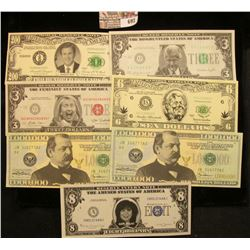 Novelty Bank Notes Lot Includes Monica Lewinsky, Bill Clinton, Hillary Clinton, George W Bush, And M