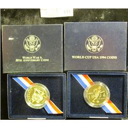 1994 World Cup Commemorative Half Dollar And World War 2 50th Anniversary Commemorative Half Dollar