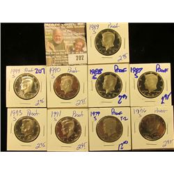 Proof Kennedy Half Dollar Lot Includes 1989-S, 1976-S, 1979-S Type 2, 1991-S, 1973-S, 1987-S, 1988-S
