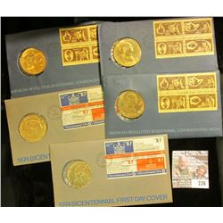 4 Bicentenial Medal/ First Day Covers
