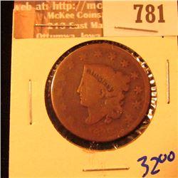 1830 Coronet Head Large Cent