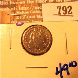 1856-O Seated Liberty Dime
