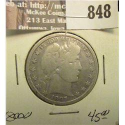 1897 P U.S. Barber Half Dollar AF. Trend $45