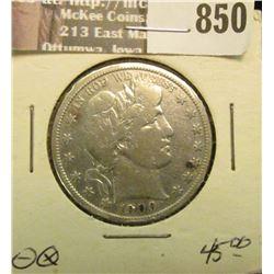 1900 S U.S. Barber Half Dollar, AF. Catalog $45