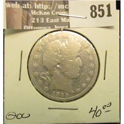 1895 O U.S. Barber Half Dollar. Good. Trend $40