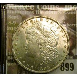 1896 P U.S. Morgan Silver Dollar, Uncirculated.