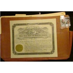 "930 _ File Folder; Number 131 Stock Certificate for 426 Shares ""Sweet Grass Canal and Reservoir Comp"